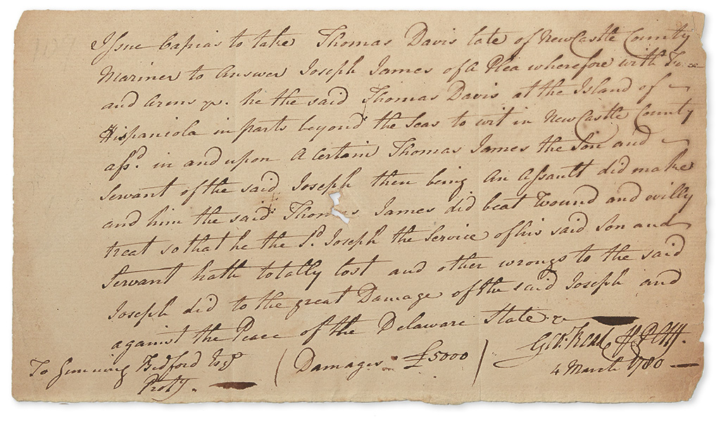 (AMERICAN-REVOLUTION)-READ-GEORGE-Autograph-Document-Signed-