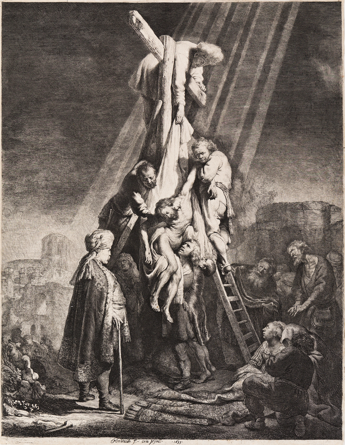 REMBRANDT VAN RIJN The Descent from the Cross: Second Plate.