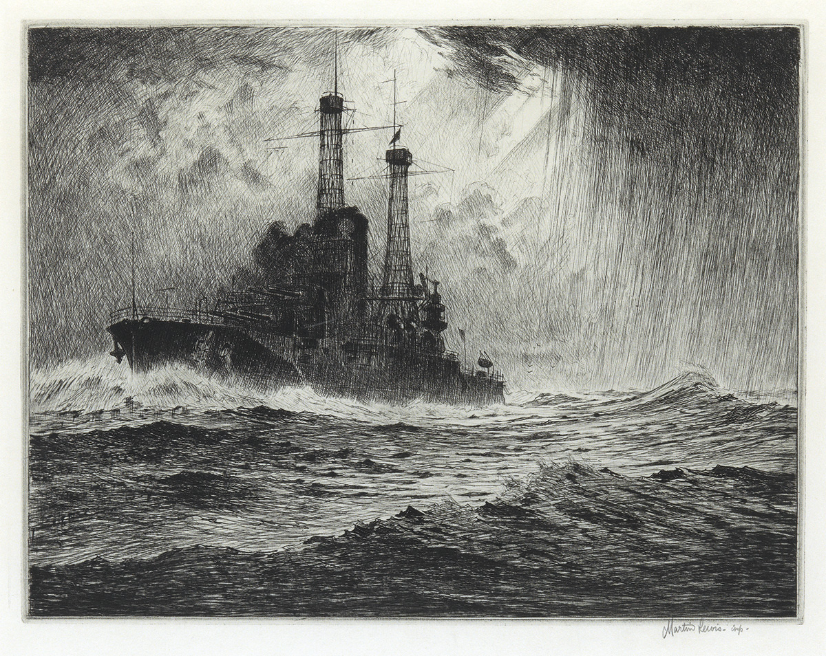 MARTIN LEWIS The Old Timer Battleship.