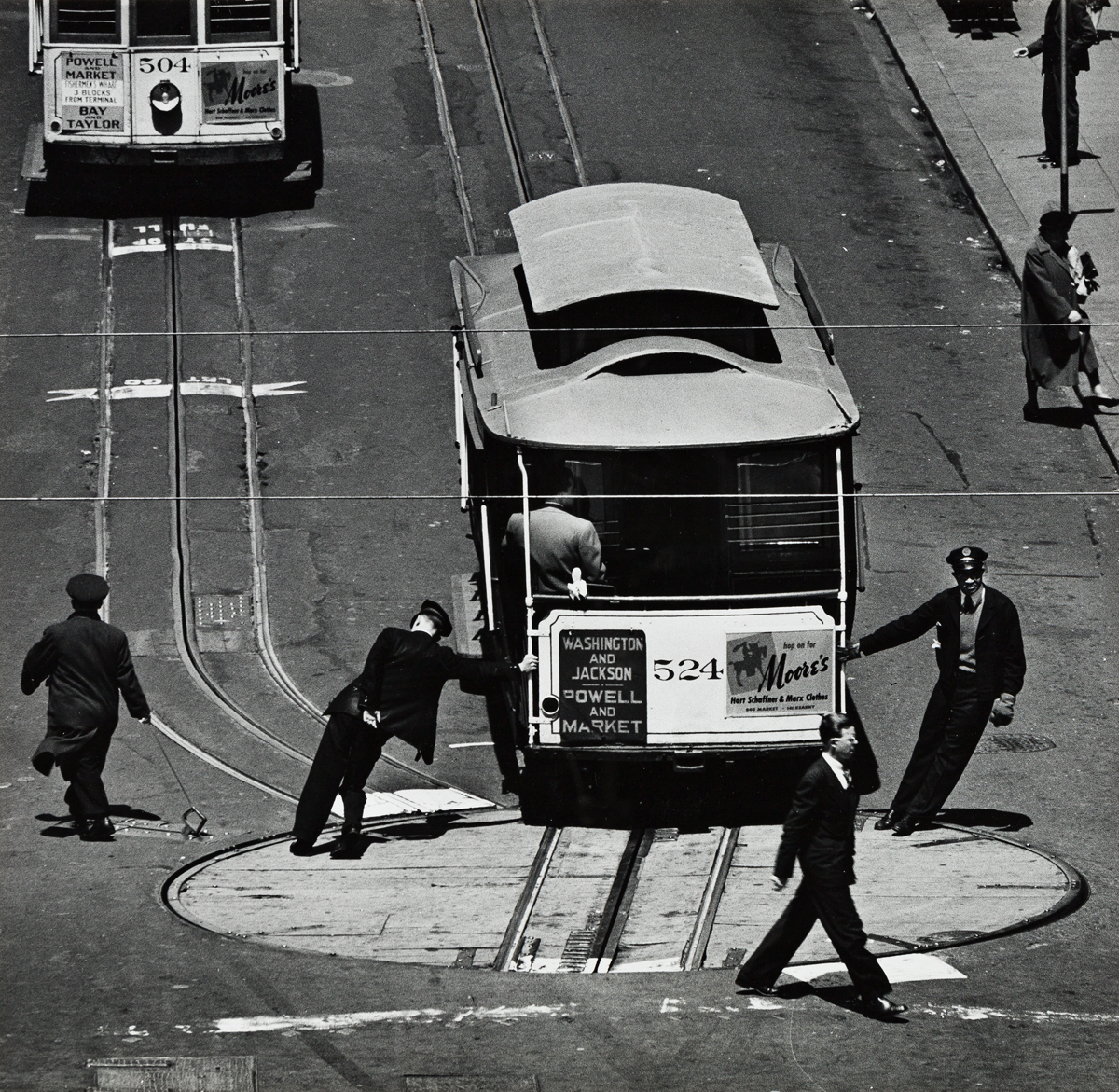 MAX YAVNO (1911-1985) San Francisco cable car turnaround.