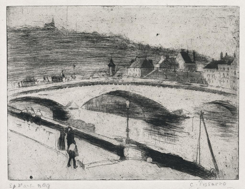 CAMILLE-PISSARRO-Le-Pont-de-Pierre-à-Rouen