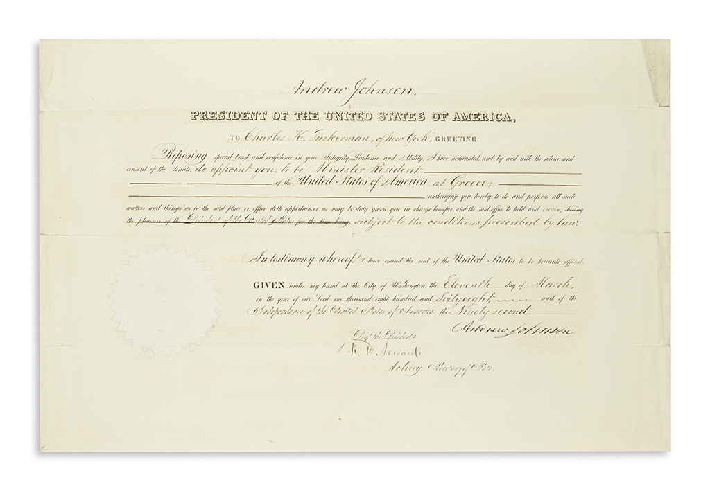JOHNSON-ANDREW-Partly-printed-Document-Signed-as-President-a