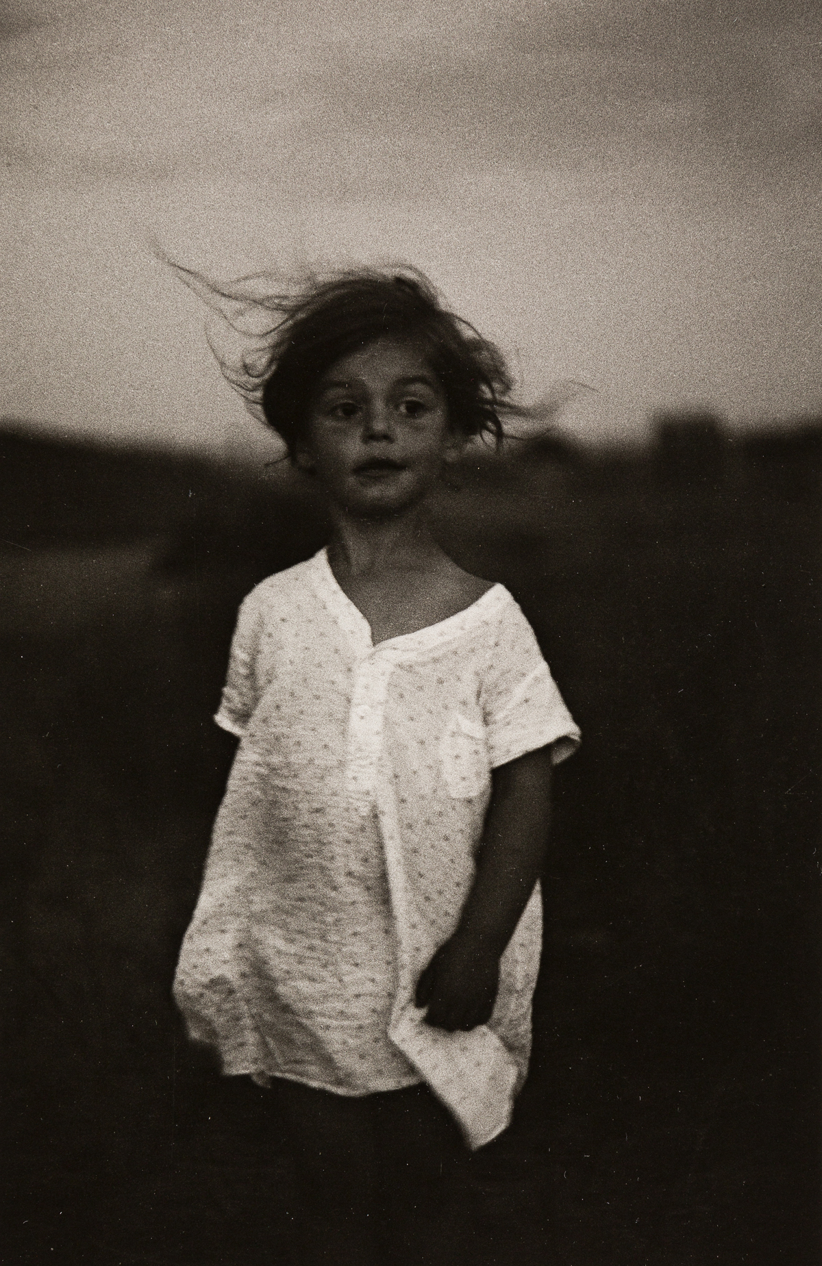 DIANE ARBUS (1923-1971)/NEIL SELKIRK (1947- ) Child in a Nightgown, Shelter Island, NY.