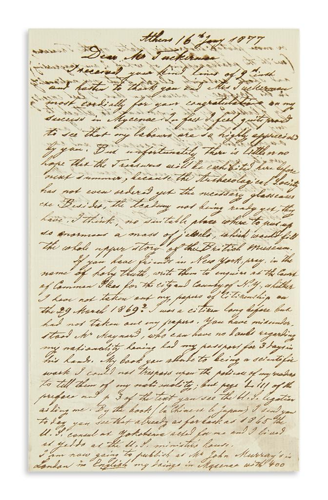 (SCIENTISTS)-SCHLIEMANN-HEINRICH-Autograph-Letter-Signed-HSc