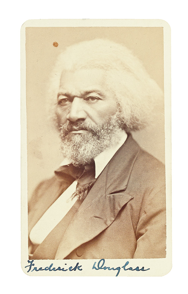 (SLAVERY AND ABOLITION--DOUGLASS, FREDERICK.) Photograph of an older Douglass.