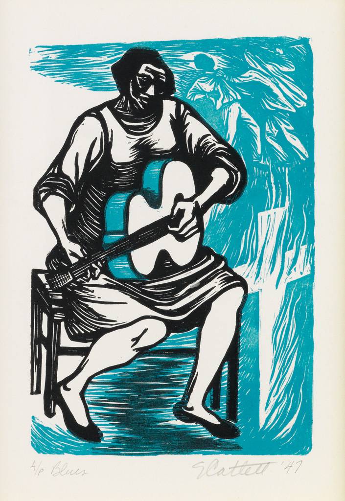 ELIZABETH CATLETT (1915 - 2012) Blues (I have given the world my songs).