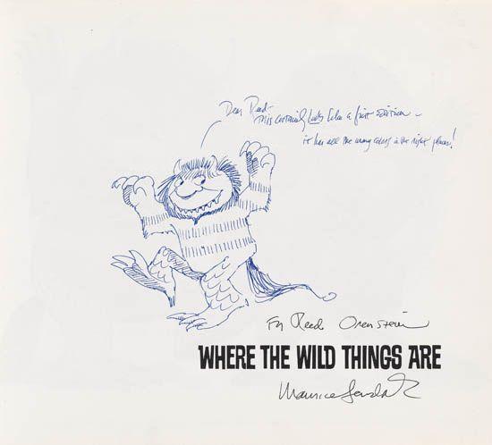 MAURICE SENDAK. Where the Wild Things Are.