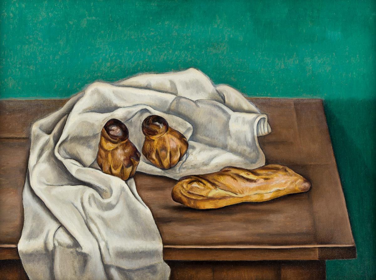 KATHERINE SHUBERT-KUNIYOSHI SCHMIDT (1899-1978) Still Life # 16 (Brioche and Petit Pain).