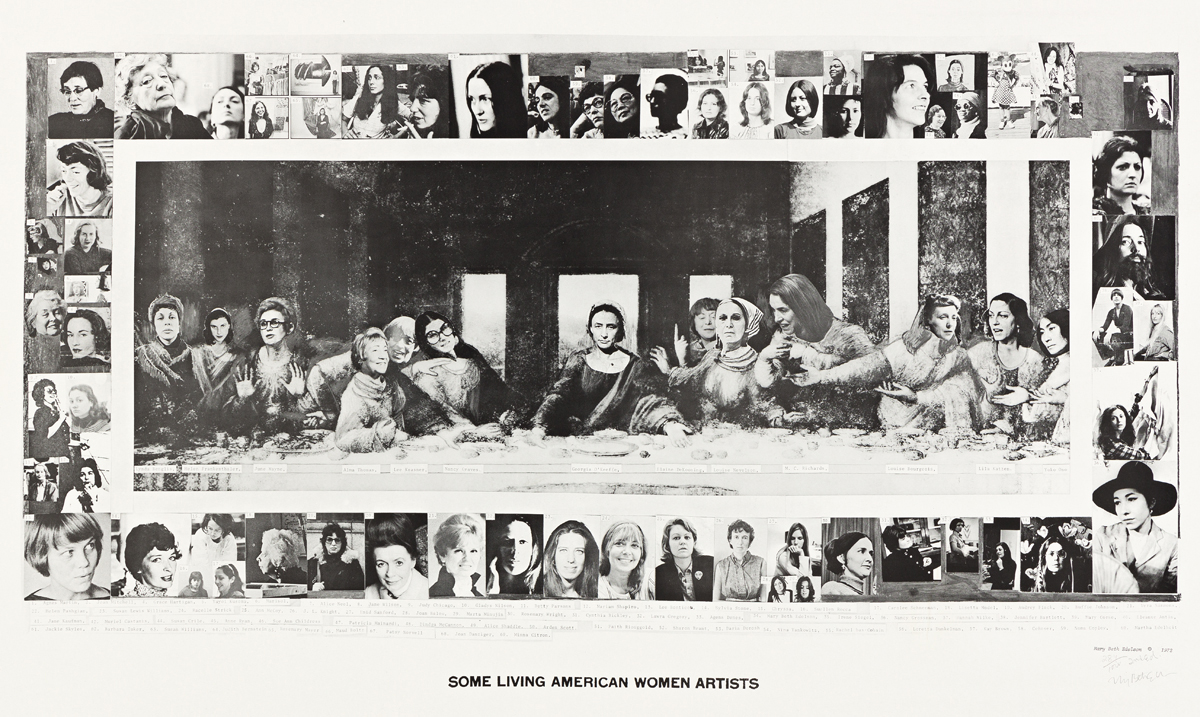 MARY BETH EDELSON Some Living American Women Artists / Last Supper.