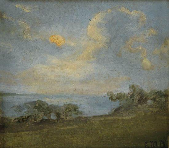 EDWARD M. BANNISTER (1828 - 1901) Untitled (Landscape and Cloud Study).