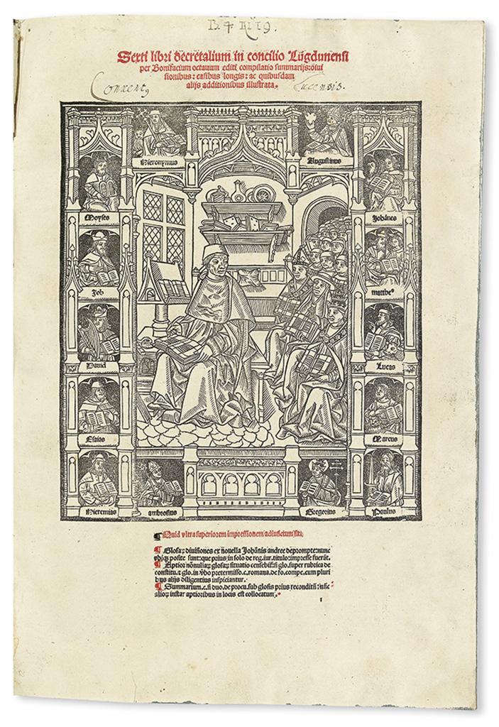 BONIFACE-VIII-Pope-Sexti-libri-decretalium-Bound-with-3-othe