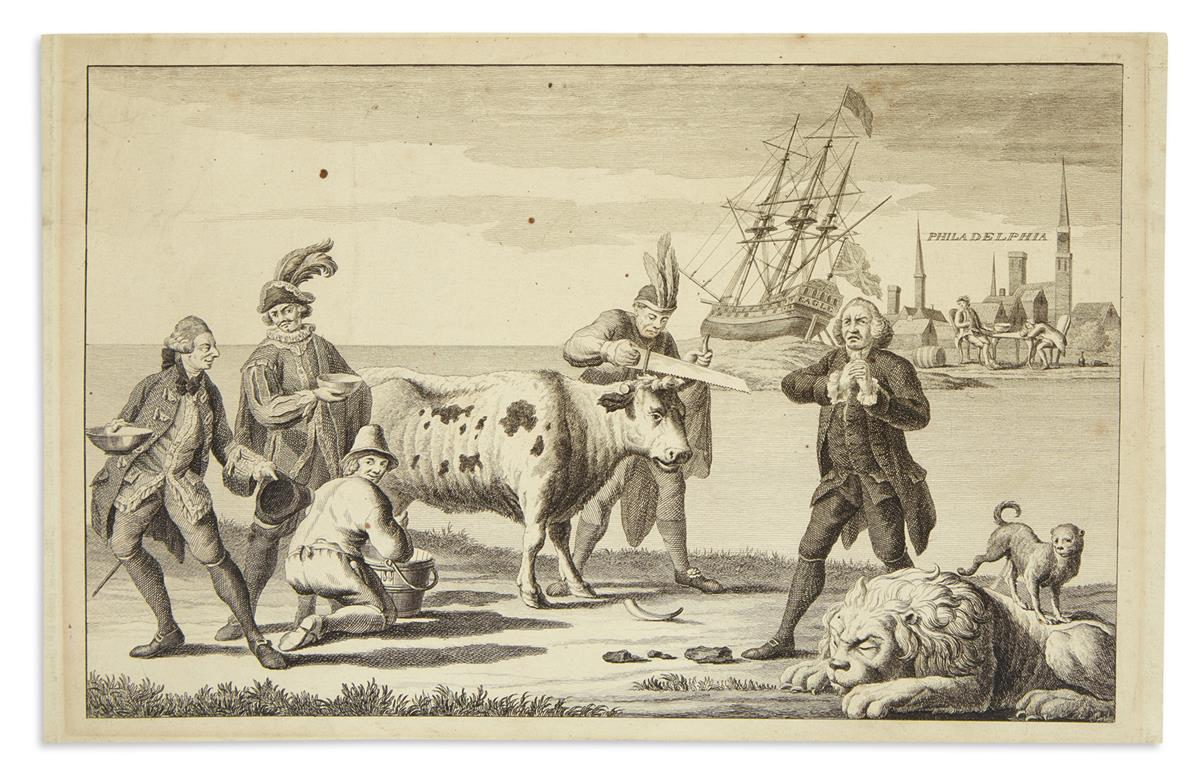 (AMERICAN REVOLUTION--1778.) [A Picturesque View of the State of the Nation for 1778.]