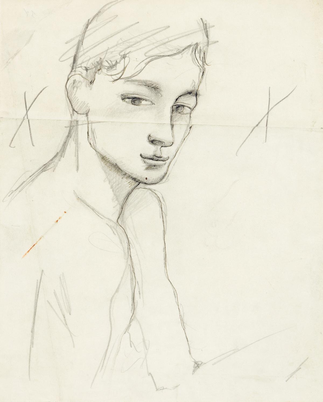 JEAN COCTEAU (1889-1963) Le garçon au Grand Véfour, Palais-Royal (Edouard Dermit).