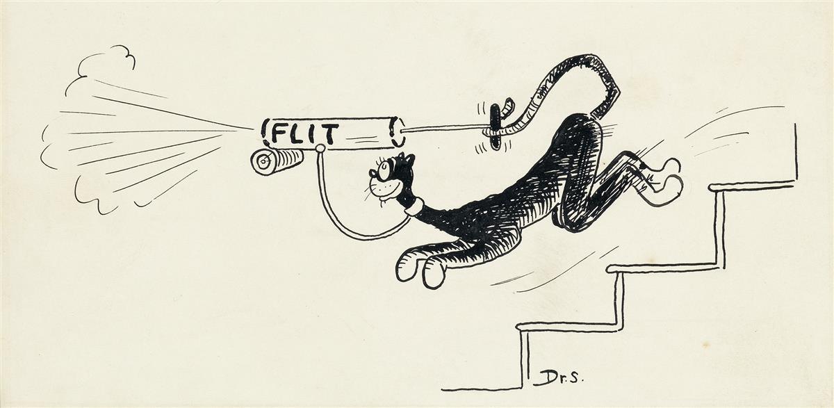 (ADVERTISING.)  DR. SEUSS [THEODOR GEISEL]. Flit Cat.