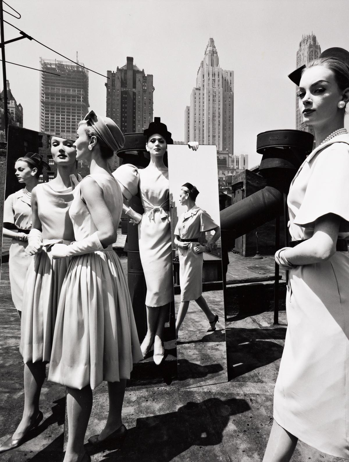 WILLIAM KLEIN (1928- ) Mirrors + Roof, New York.
