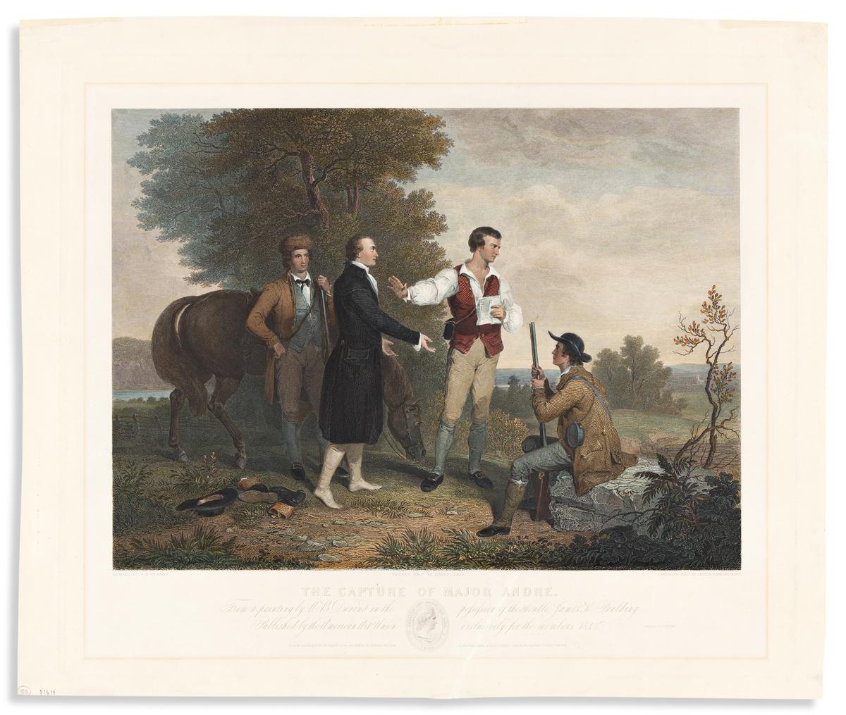 (REVOLUTION.) Alfred Jones, et al., engravers; after Durand. The Capture of Major Andre.