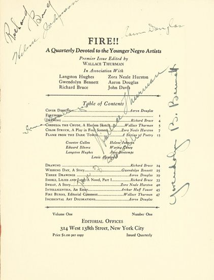 (LITERATURE-AND-POETRY)-THURMAN-WALLACE-EDITOR-Fire-A-Quarte