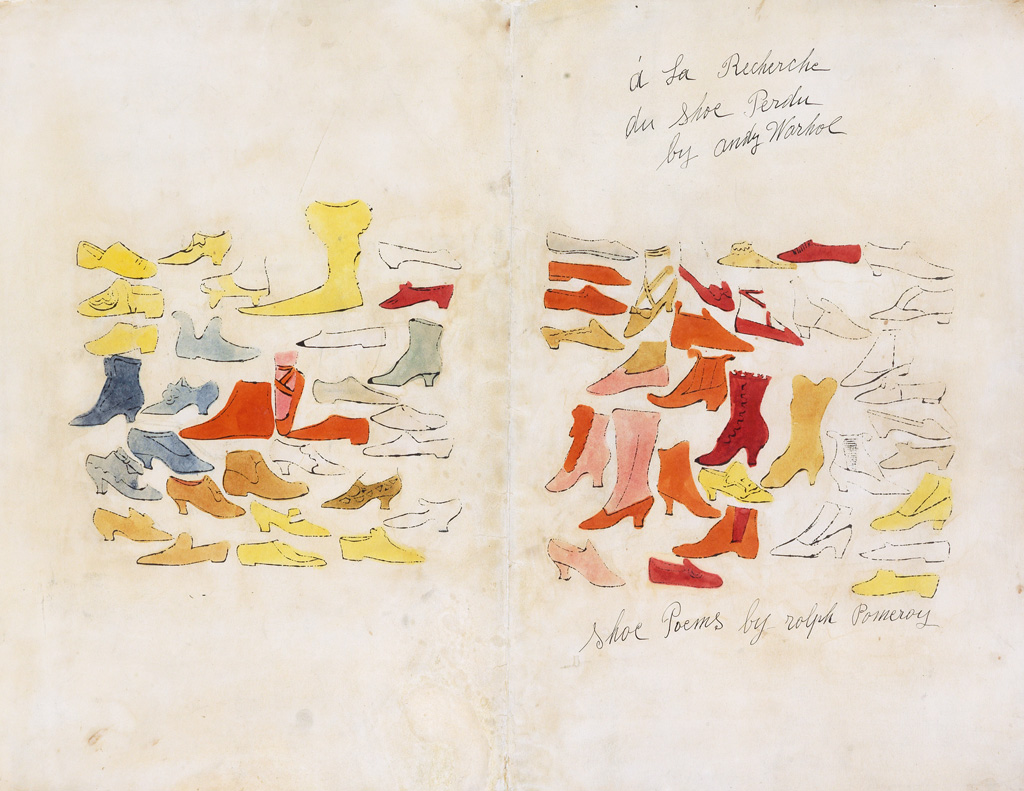 ANDY WARHOL Group of 4 prints from À la Recherche du Shoe Perdu.