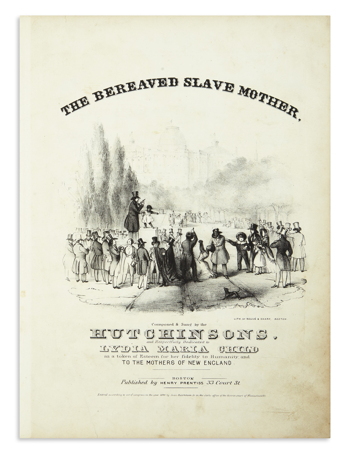(SLAVERY AND ABOLITION.) The Bereaved Slave Mother.