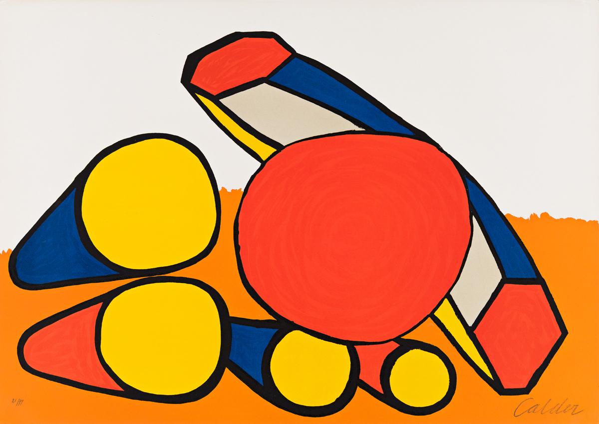 ALEXANDER CALDER Red and Yellow Circles.