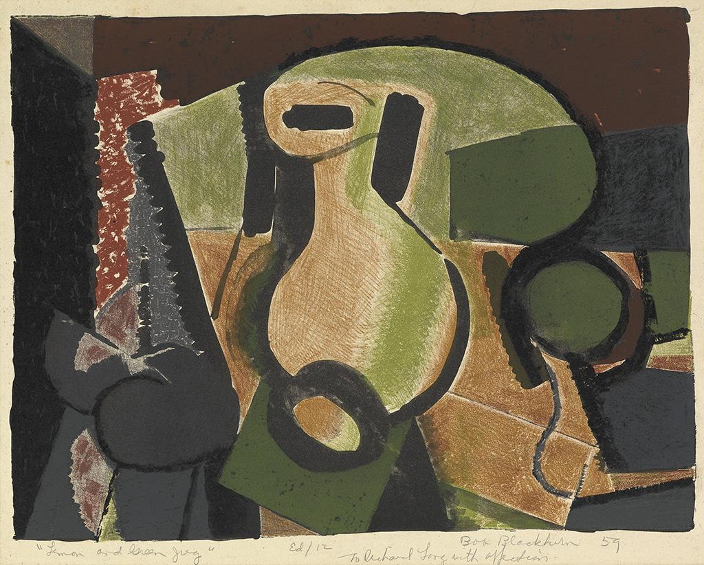 ROBERT BLACKBURN (1920 - 2003) Lemon and Green Jug.
