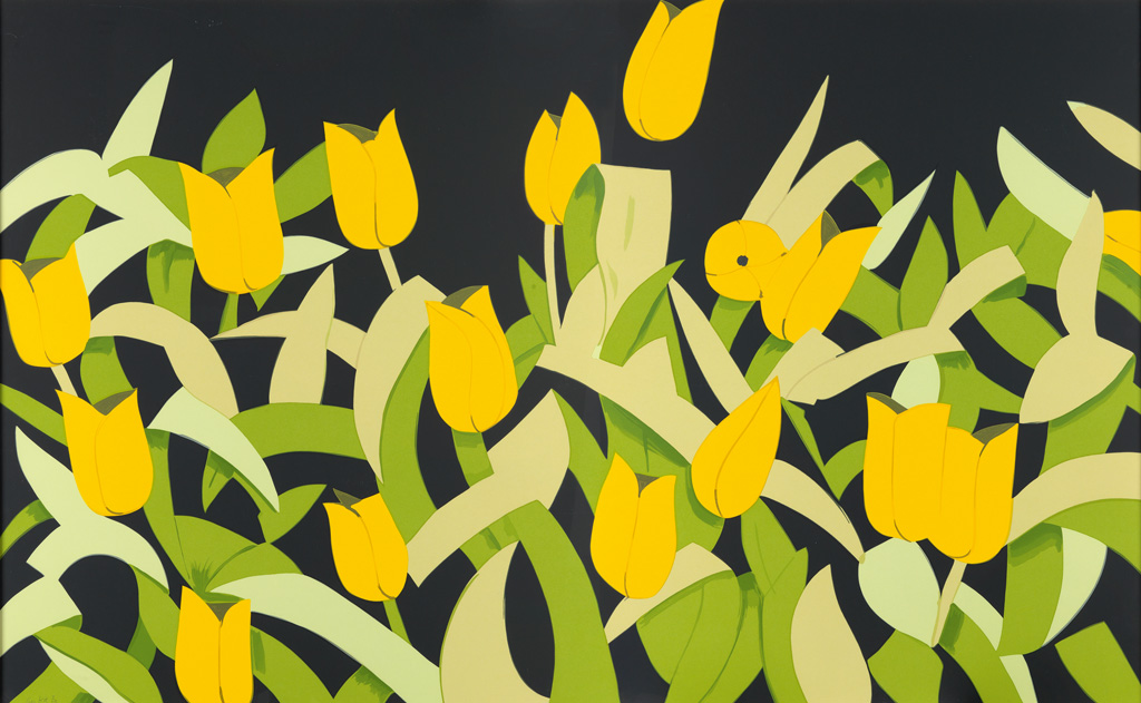 ALEX KATZ Yellow Tulips.