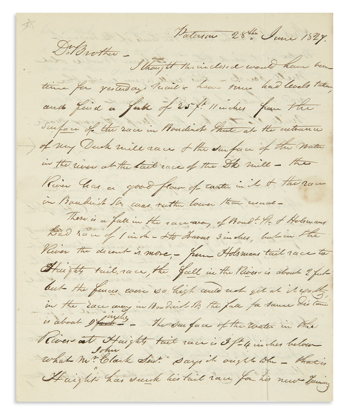 (NEW JERSEY.) Family papers of Roswell Colt, a central figure in the history of Paterson.