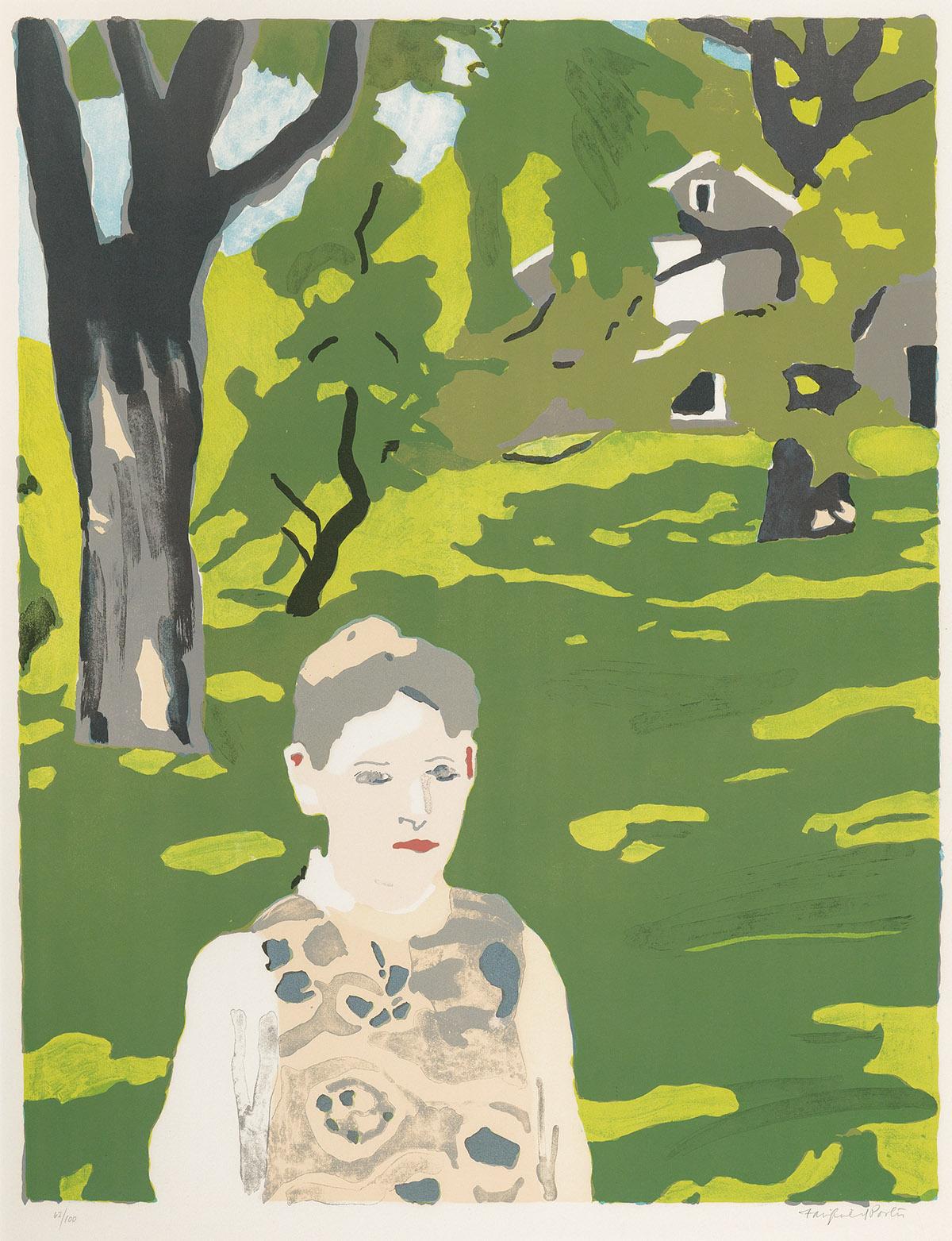 FAIRFIELD-PORTER-Girl-in-the-Woods