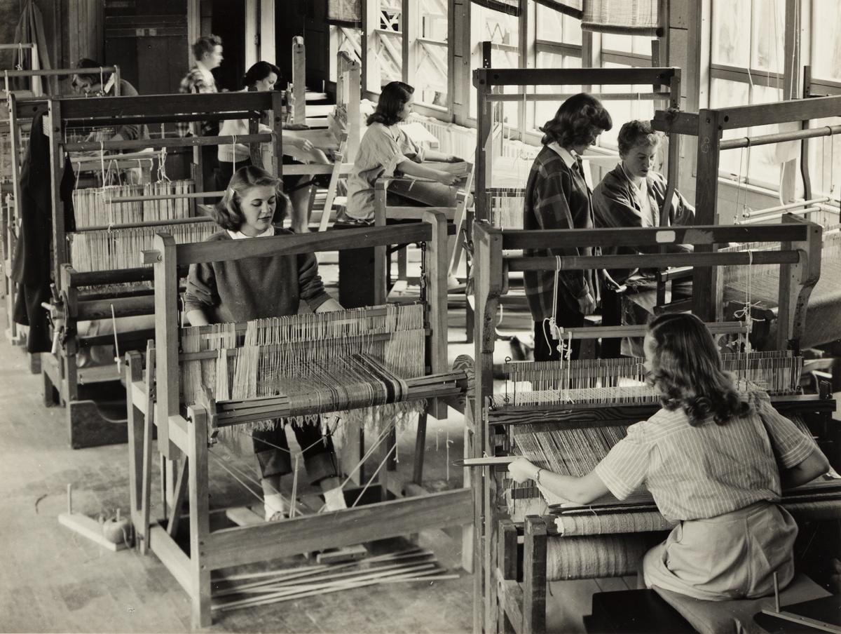 IMOGEN CUNNINGHAM (1883-1976) Weaving studio, Mills College.