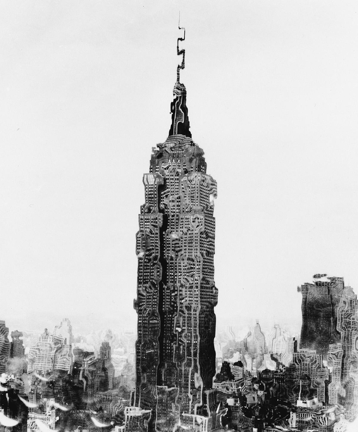WEEGEE-[ARTHUR-FELLIG]-(1899-1968)-Empire-State-Distortion