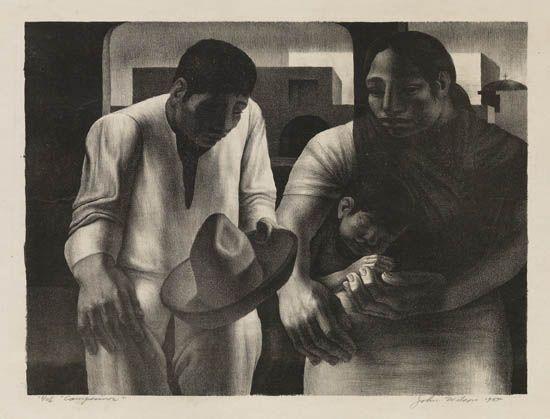 JOHN WILSON (1922 -  ) Campesinos.