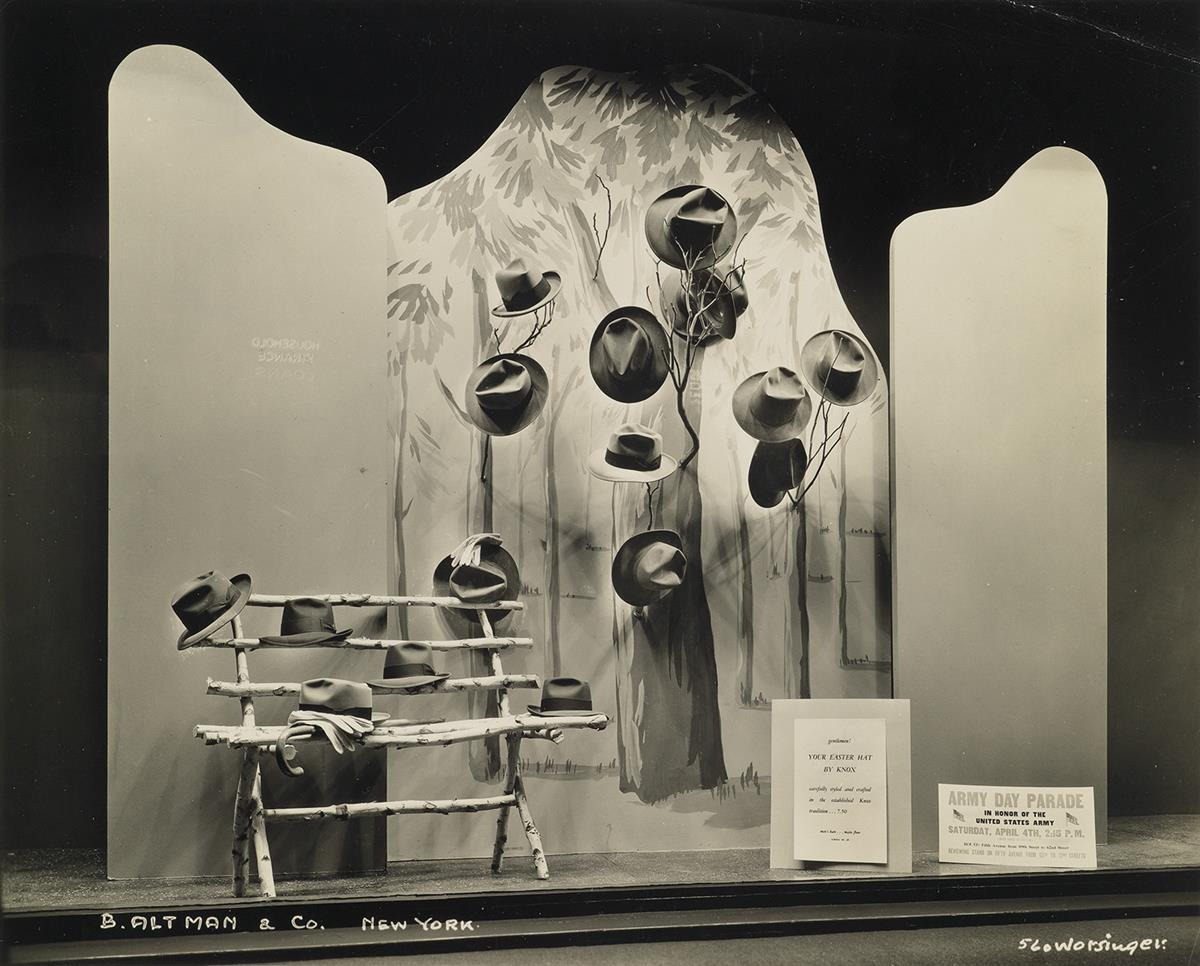 (WINDOW DISPLAYS--B. ALTMAN DEPARTMENT STORE) A striking group of 55 elegant photographs documenting the detailed and stylish displays