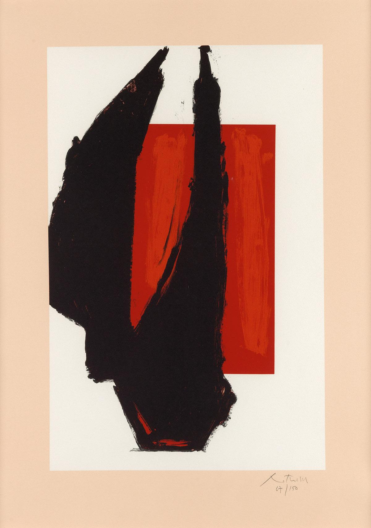 ROBERT MOTHERWELL Art 1981 Chicago Print.