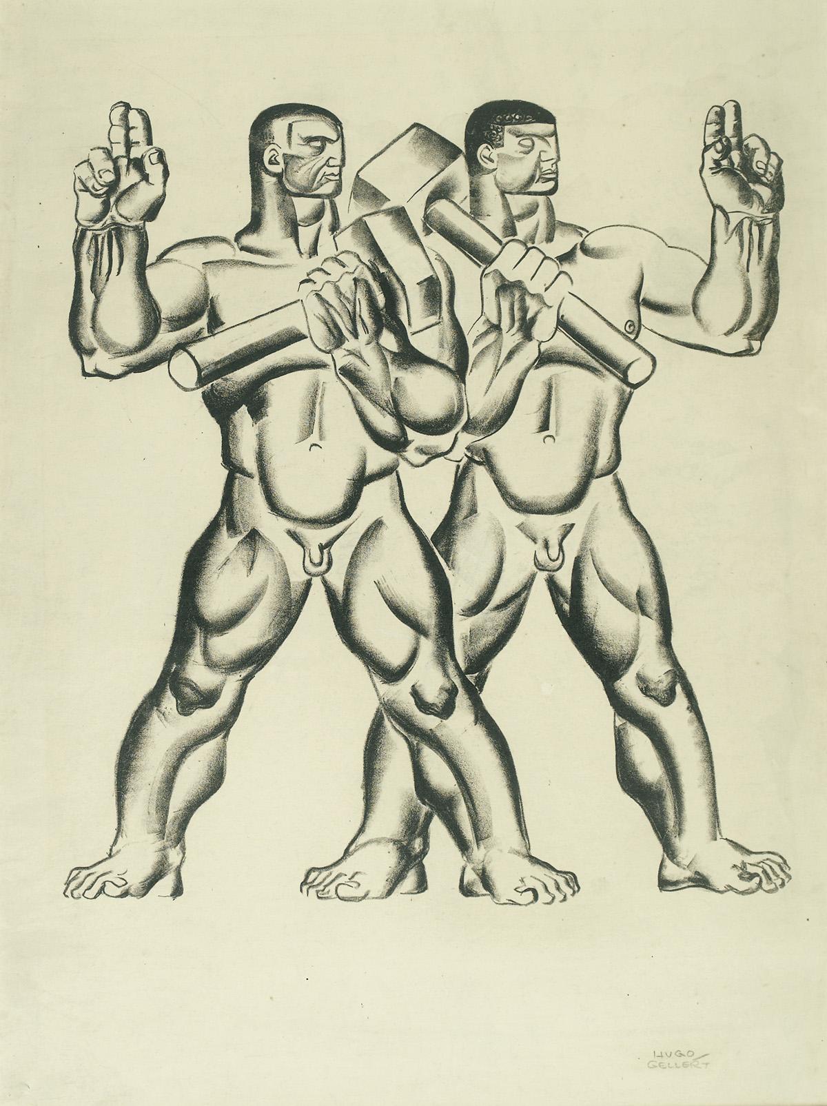 HUGO GELLERT. Workers of the World.  [KARL MARX /COMMUNISM]