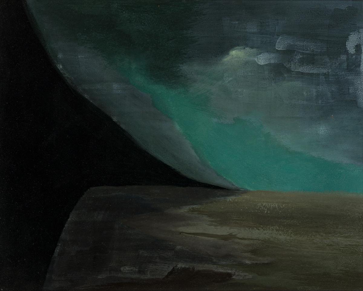 HELEN LUNDEBERG (1908 - 1999, AMERICAN) The Edge.