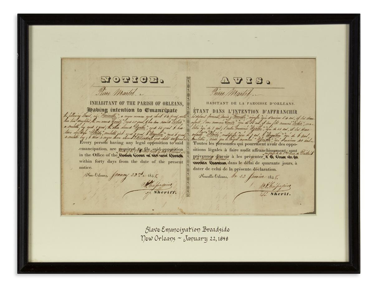 (SLAVERY-AND-ABOLITION)-Bilingual-emancipation-notice-for-a-