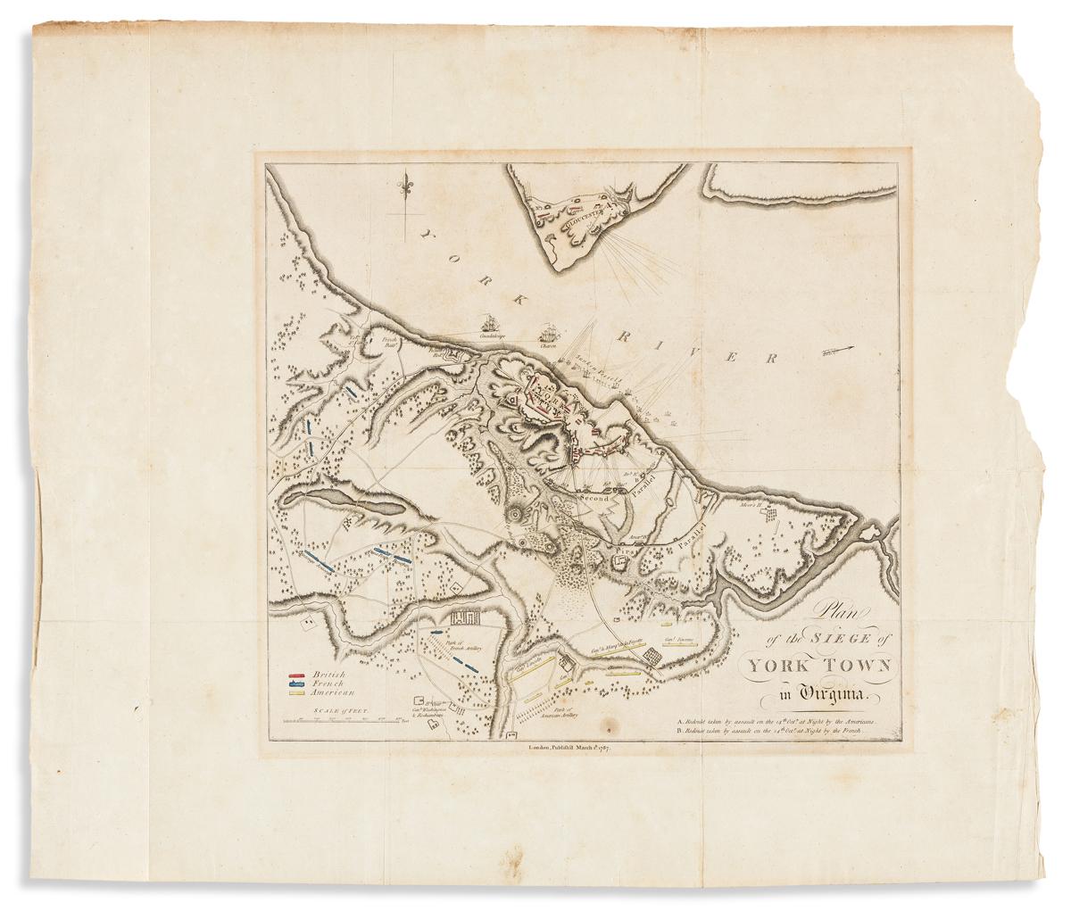 (REVOLUTION.) Plan of the Siege of Yorktown in Virginia.