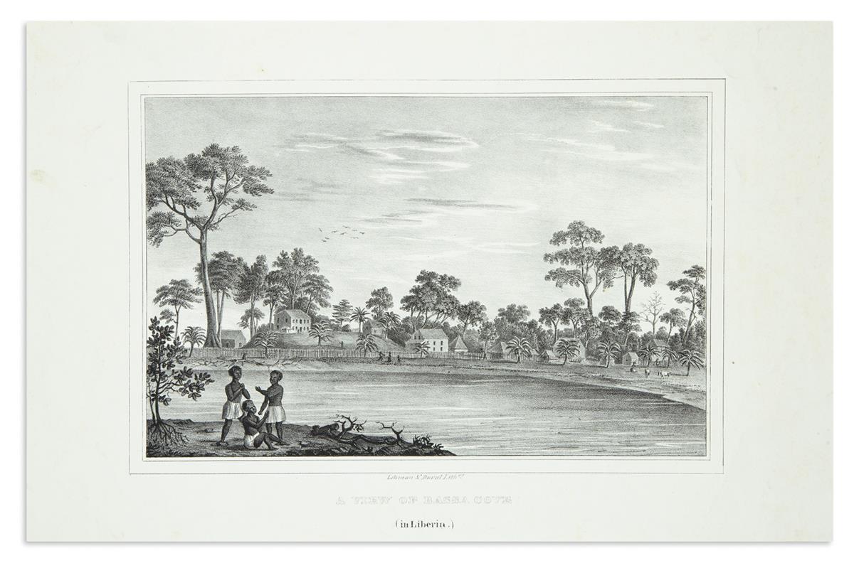 (AFRICA.) Lehman & Duval; lithographers. A View of Bassa Cove (in Liberia).