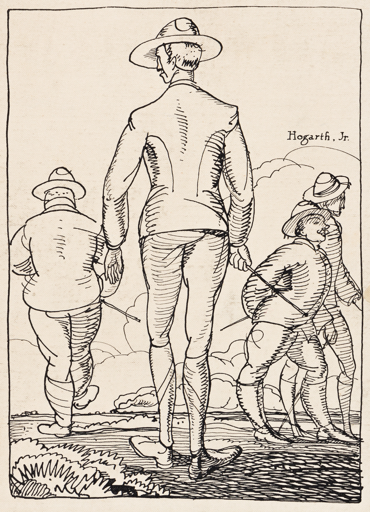 ROCKWELL KENT (1882-1971) Army Men.
