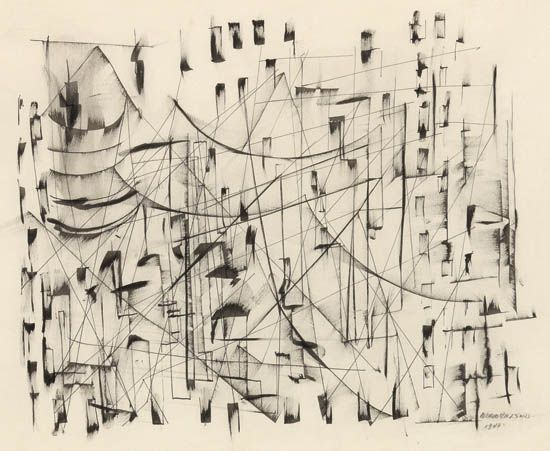 NORMAN LEWIS (1909 - 1979) Untitled (Abstract Cityscape).