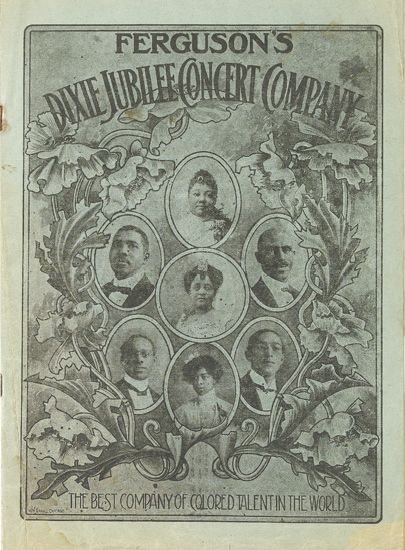 (MUSIC--MINSTRELSY.) Ferguson''s Dixie Jubilee Concert Company, The Best Company of Colored Talent in the World.
