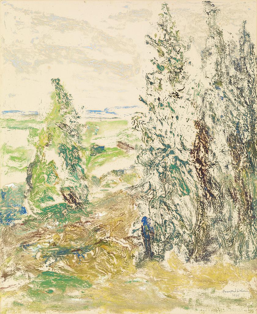 BEAUFORD DELANEY (1901 - 1979) Untitled (Landscape).