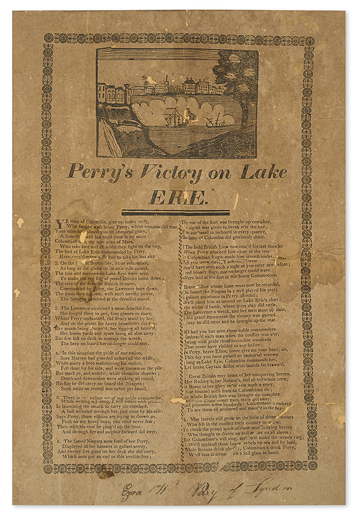 (WAR OF 1812.) Perrys Victory on Lake Erie.