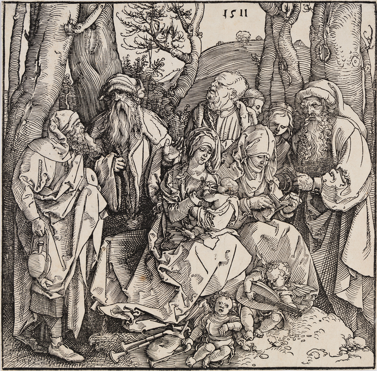 ALBRECHT DÜRER The Holy Kinship with the Lute-Playing Angels.