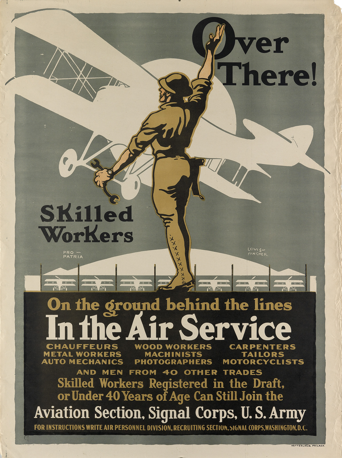 LOUIS-FANCHER-(1884-1944)-OVER-THERE--IN-THE-AIR-SERVICE-Cir