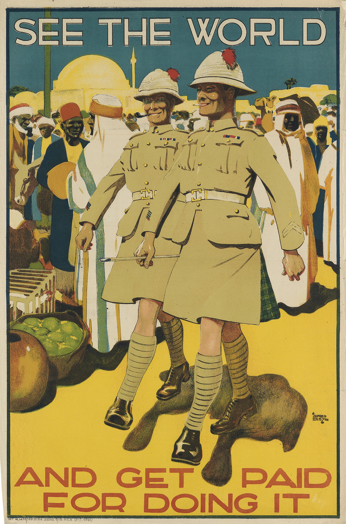 ALFRED LEETE (1882-1933). SEE THE WORLD / AND GET PAID FOR DOING IT. 1919. 30x20 inches, 76x50 cm. H.G.B. Ltd., [London.]