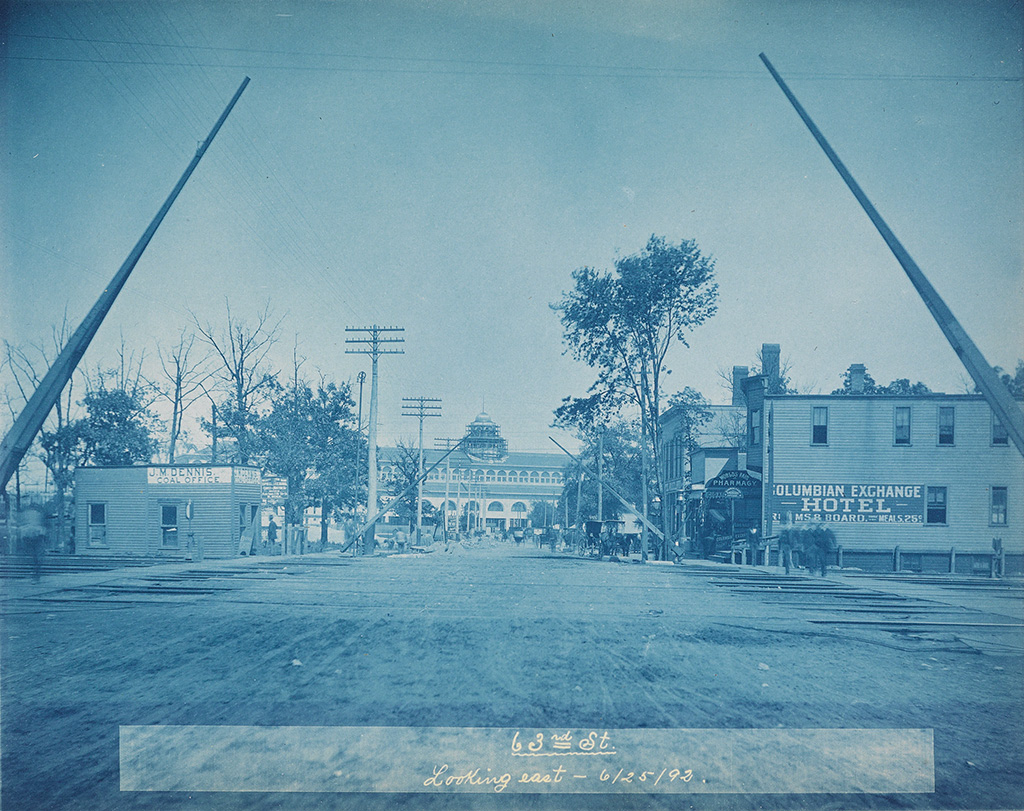 (CYANOTYPES--WORLDS FAIR) r.a. beck A select group of 13 cyanotypes by R. A. Beck, depicting Chicago preparing for the 1893 Worlds