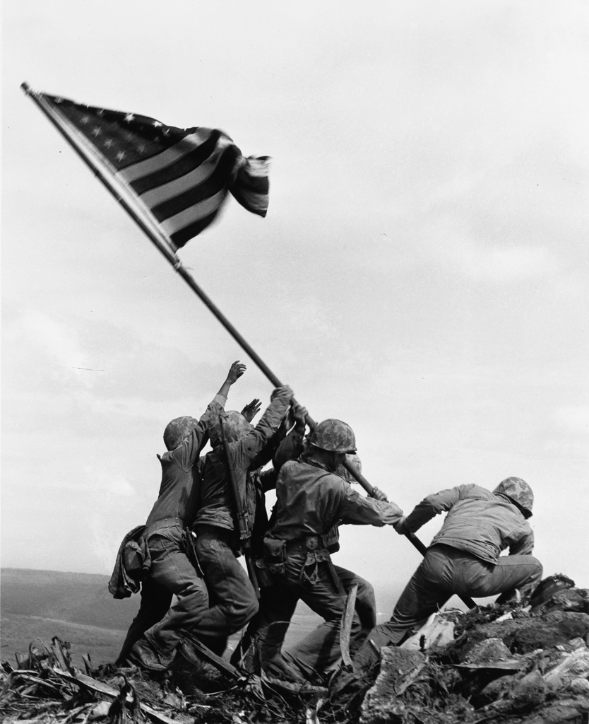 JOE ROSENTHAL (1911-2006) Raising the Flag on Iwo Jima.