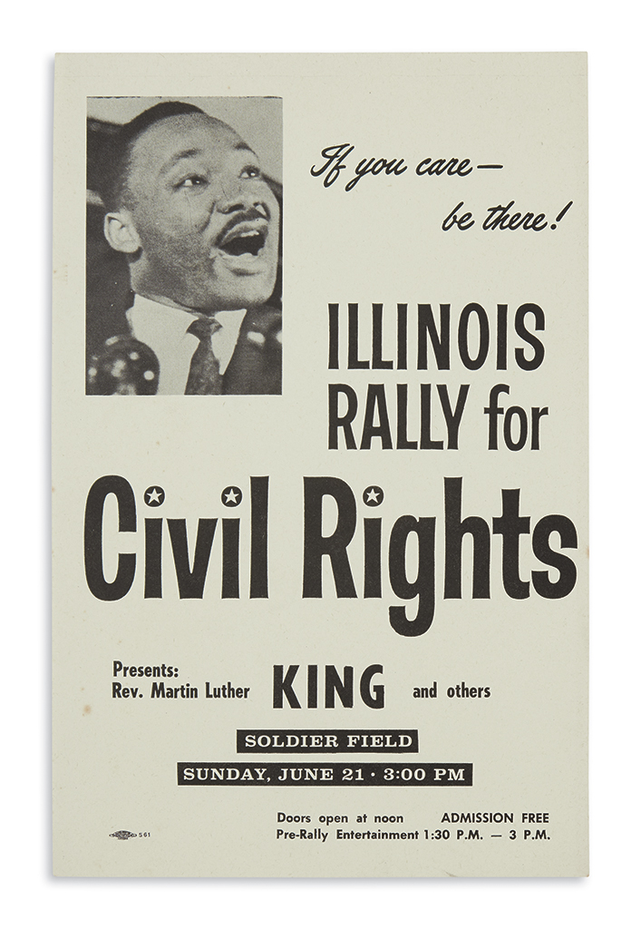 (KING-MARTIN-LUTHER-JR)-If-You-Care--Be-There-Illinois-Rally