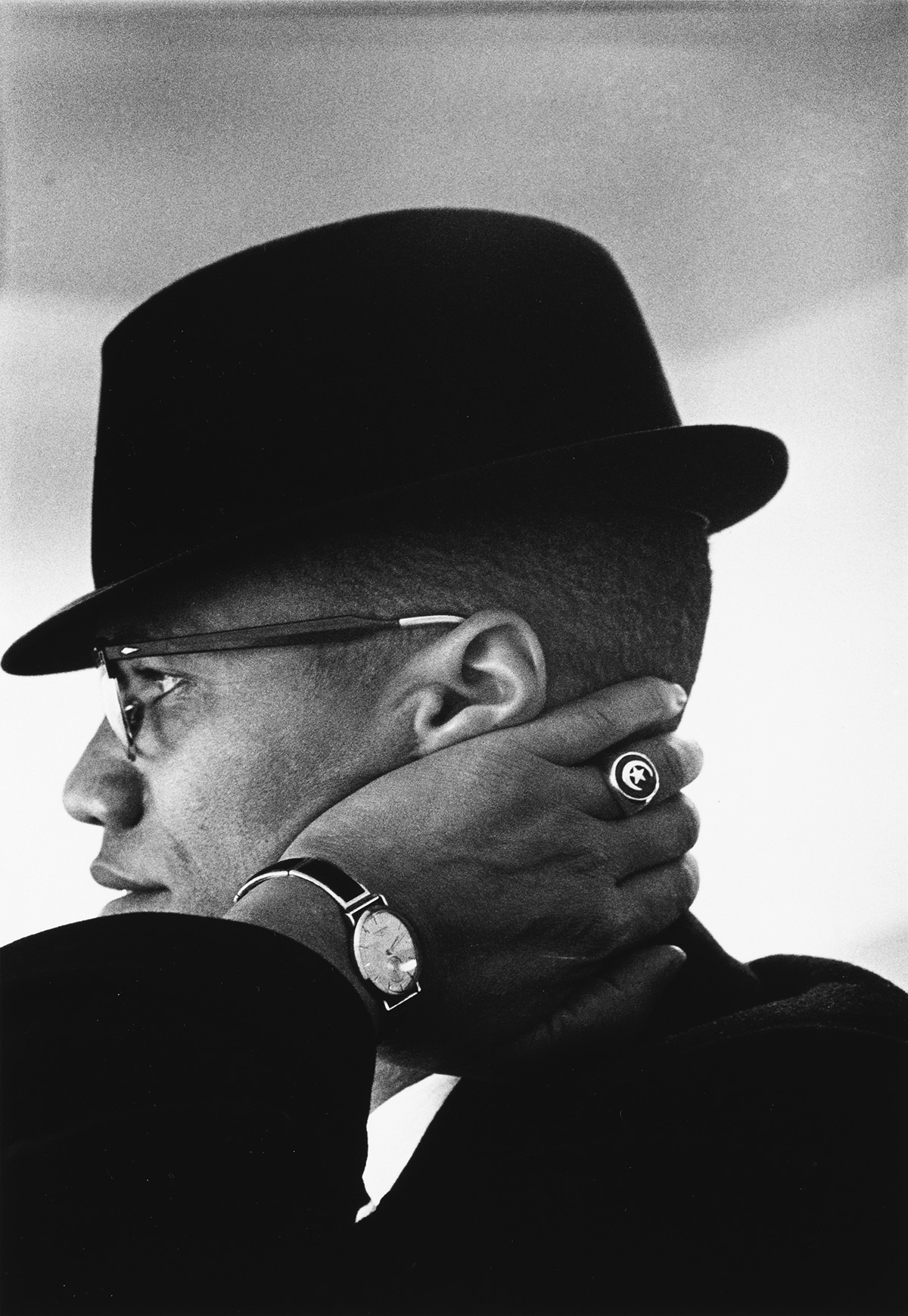 EVE-ARNOLD-(1912-2012)-Malcolm-X-Chicago